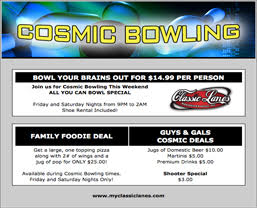 Bowling Rewards - Promotional email template samples